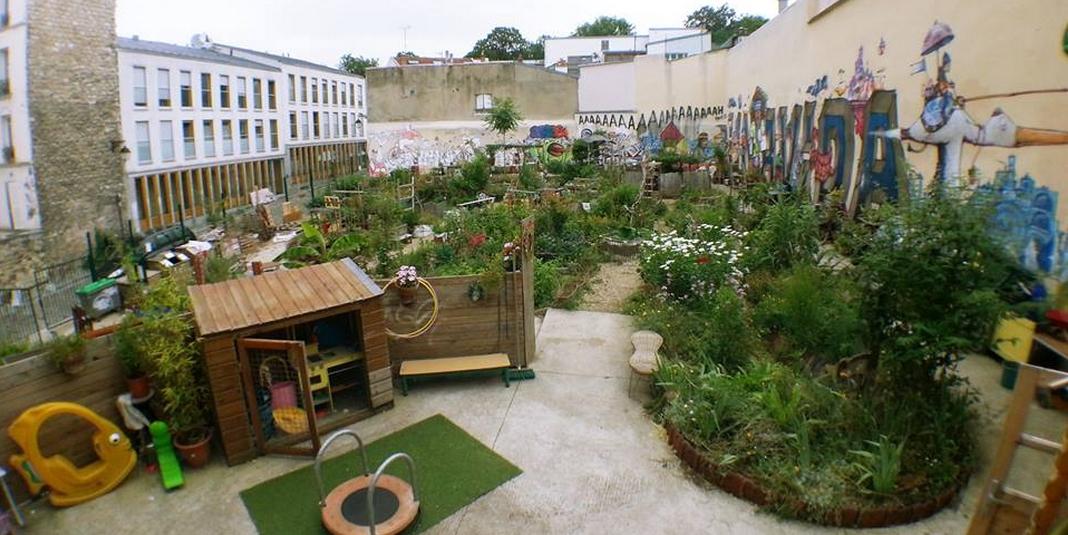 Le jardin partagé de la cité Aubry – Paris 20