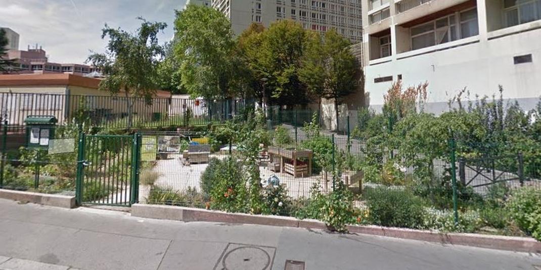 Le jardin partagé Le p'tit jardin d'Eugénie – Paris 19