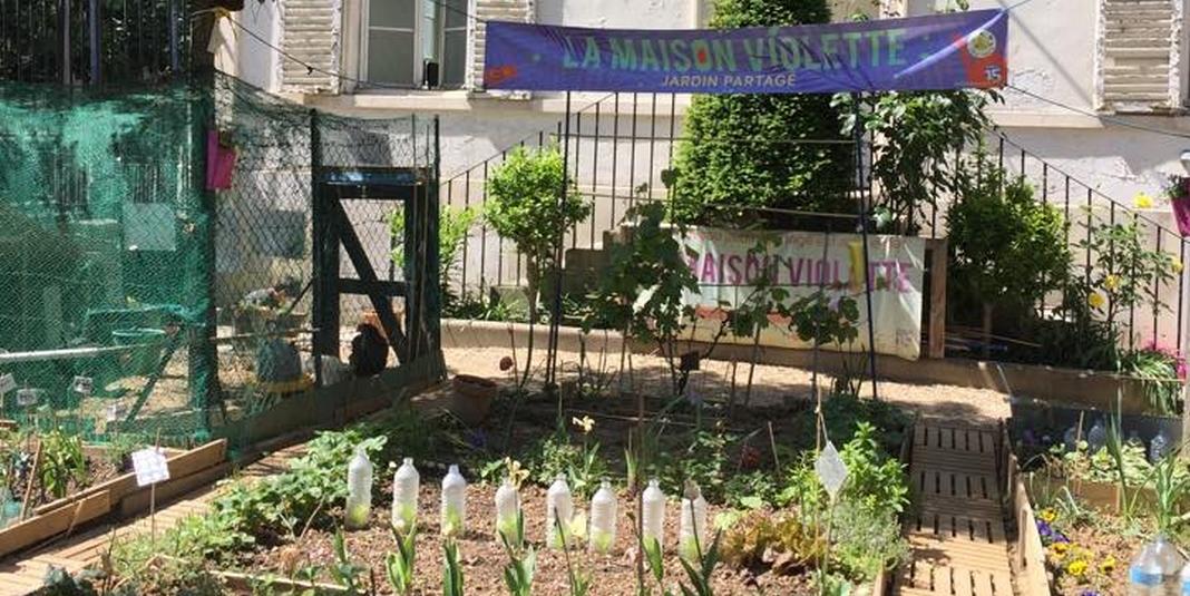 Le jardin partag de la maison violette paris 15 le for Maison violette