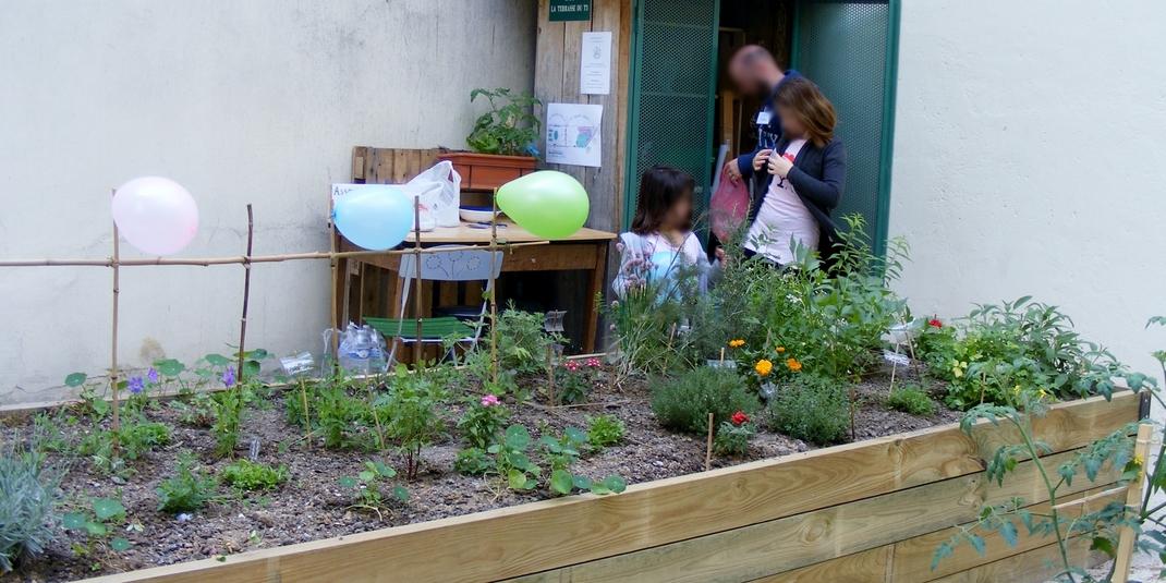Le Jardin Partage La Terrasse Du T3 Paris 20 Le Cri Du Zebre