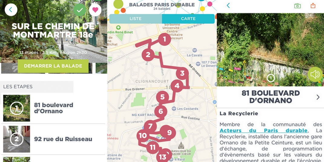 Où se balader à Paris ? L'application Balades Paris Durable
