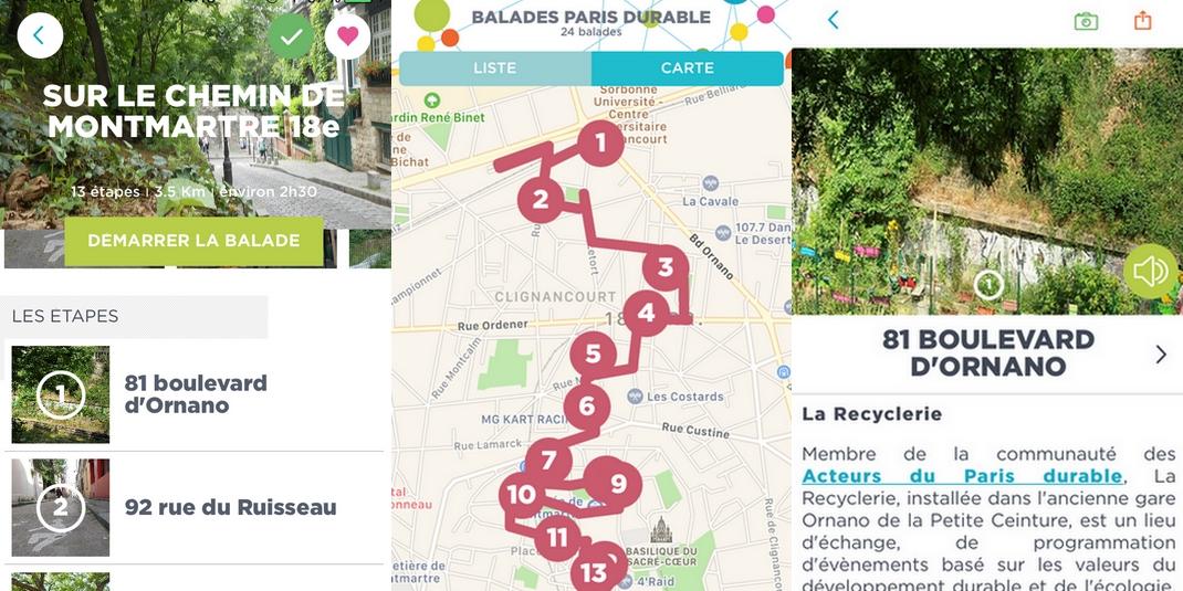 Où se balader à Paris ? L'application BaladesParis Durable